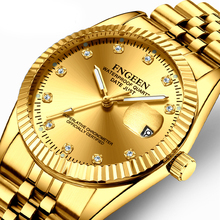 Brand Luxury Gold Watches Military Quartz Couple Watch Water
