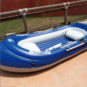 Image 5 - AQUA MARINA WILDRIVER Inflatable Boats Fishing Boat Rubber Inflatable PVC Boat Kayak For Fishing Double Persons With Paddle