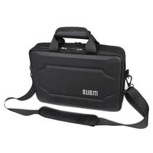Bubm caso eva duro bolsa de ordenador portátil de aire 13 'del ordenador portátil de negocios de presión contra el hombro de la manera del bolso negro