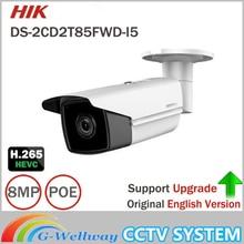 Hikvision 8MP English IP Camera DS-2CD2T85FWD-I5 bullet CCTV Camera IP67 IR 50m Upgradable POE Security Camera sd card Slot 128G