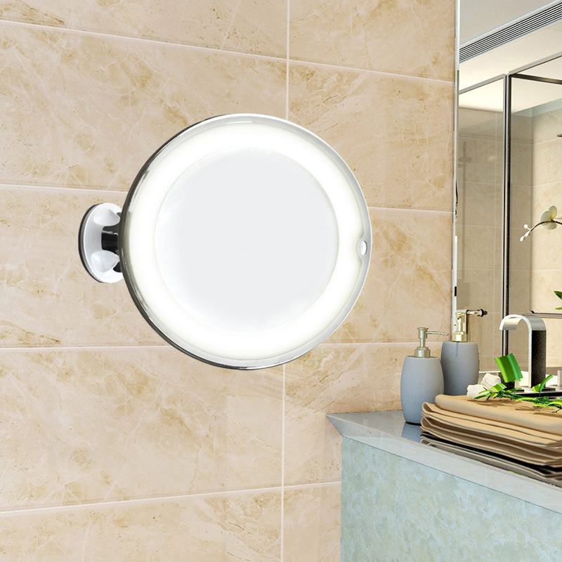 10X Magnifying Light Up Makeup Mirror With Power Locking Suction Cup 360 Degrees Rotating Adjustable Mirror Home Travel Bathroom 4