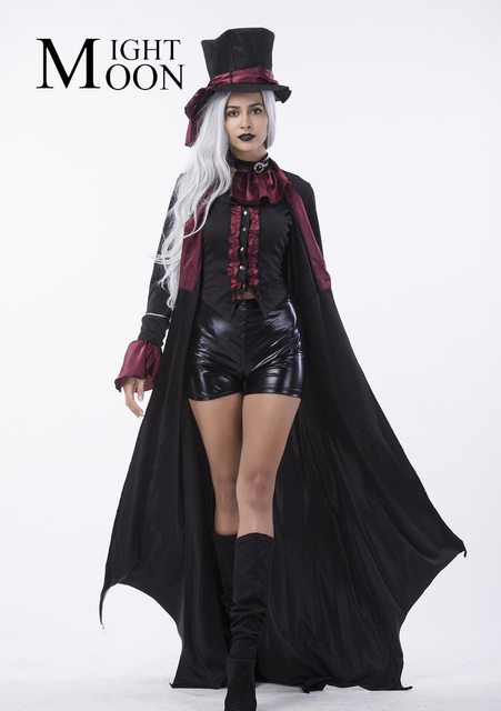 MOONIGHT Gothic Costume Magician Costume Sexy Costume Women Masquerade Party Halloween Cosplay Stage Costume  sc 1 st  AliExpress.com & MOONIGHT Gothic Costume Magician Costume Sexy Costume Women ...