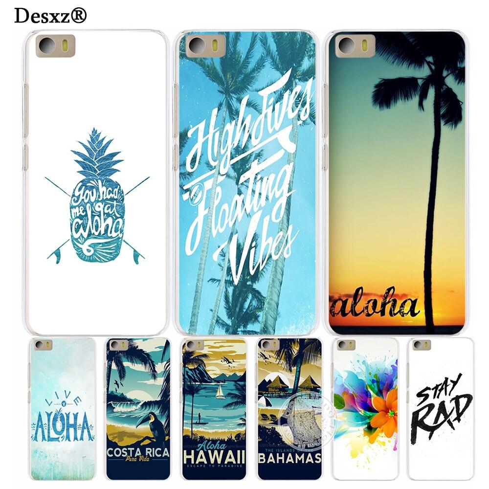 Desxz <font><b>Hawaii</b></font> Aloha tree Cover <font><b>phone</b></font> <font><b>Case</b></font> for Xiaomi M Mi 3 4 5 5S 5C 5X 6 Mi3 Mi4 4S 4I 4C Mi5 Mi6 NOTE MAX