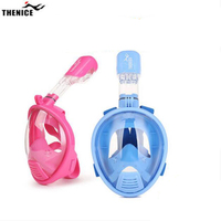 Kids Full Face Snorkeling Diving Mask Anti Fog Child Swim Snorkel Mask Children Scuba Mergulho Maske Study Swimming Equipments