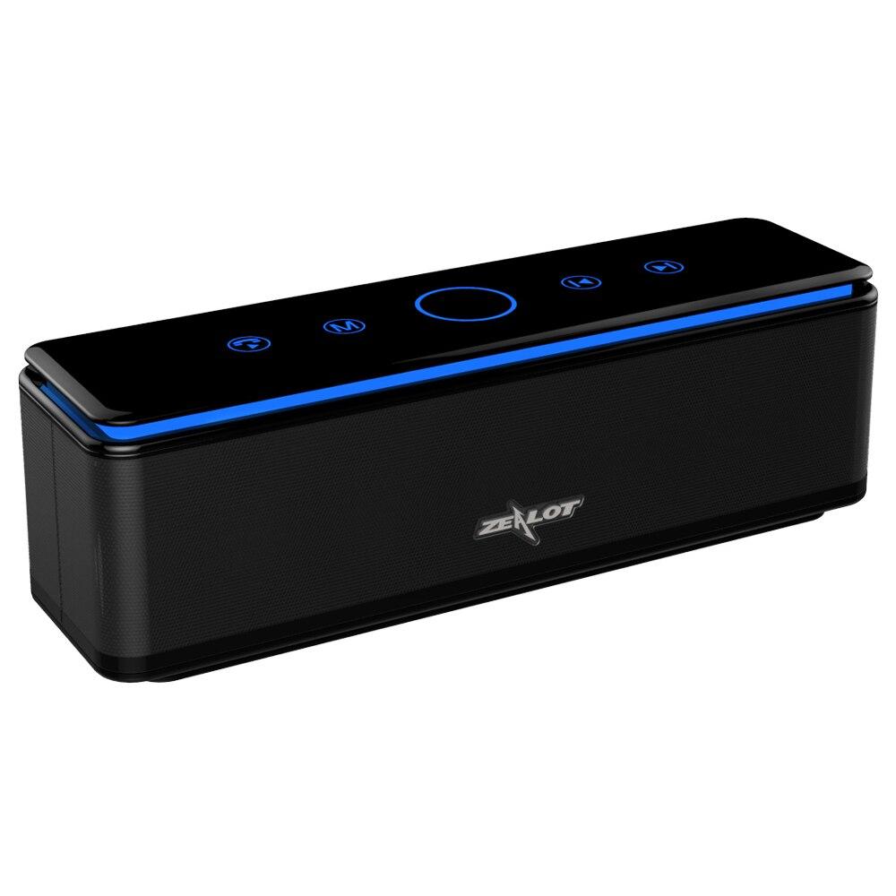 Zélot S7 3D stéréo sans fil Bluetooth haut-parleur contrôle tactile barre de son 26 W AUX TF carte Play 20 h lecture avec Microphone