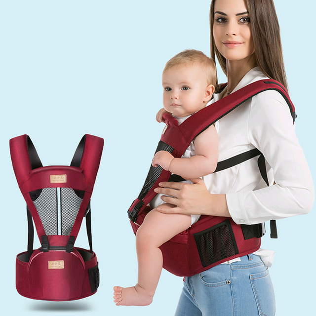 9fd6cf00a1b Ergonomic Baby Carrier 0-48Months Breathable Infant Newborn Hipseat Sling  Front Facing Kangaroo Multifunction Backpack Sling