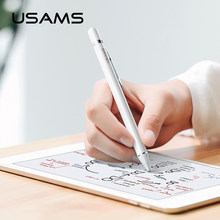 USAMS Lápis Caneta Stylus Capacitive Touch Pen Para Apple Para O iPad 9.7 2018 Mini 1 2 3 4 Pro Ar para Samsung Pintura Tablet Stylus(China)