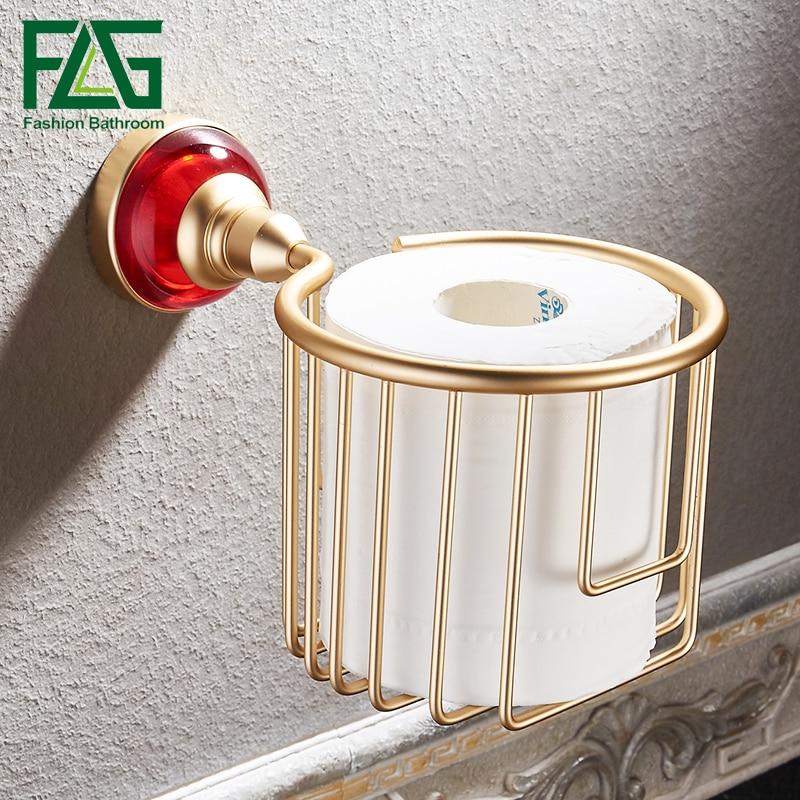 flg paper holders gold bathroom basket red crystal u0026 glass toilet paper holder space aluminum wall