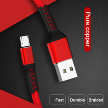 2.4A Fast Charging Micro USB Cable For Xiaomi Redmi Note 7 USB Micro Data Cable For Samsung S7 Honor Charger Cord USB-C Cable usb 2 0 to micro usb charging data cable for samsung galaxy note 10 1 2014 edition p600 200cm