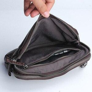 Image 4 - AETOO Bolso de cuero retro hecho a mano, primera capa de cartera de cuero, multitarjeta bolso de mano, Vintage, multiusos