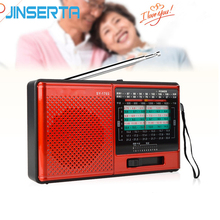 JINSERTA Radio de banda completa FM, RECEPTOR ESTÉREO/AM/SW DSP World Band con batería recargable, conector para auriculares