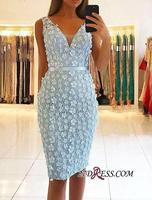 2019 Stunning Short Spaghetti V Neck Sleeveless Prom Dress Arabic Muslim Women Cocktail Dress Robe De Soiree