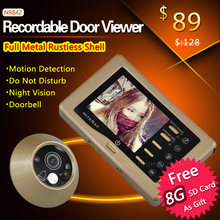 Smart IR Infrared Digital Door Peephole Viewer Camera Doorbell Photo Video Recording