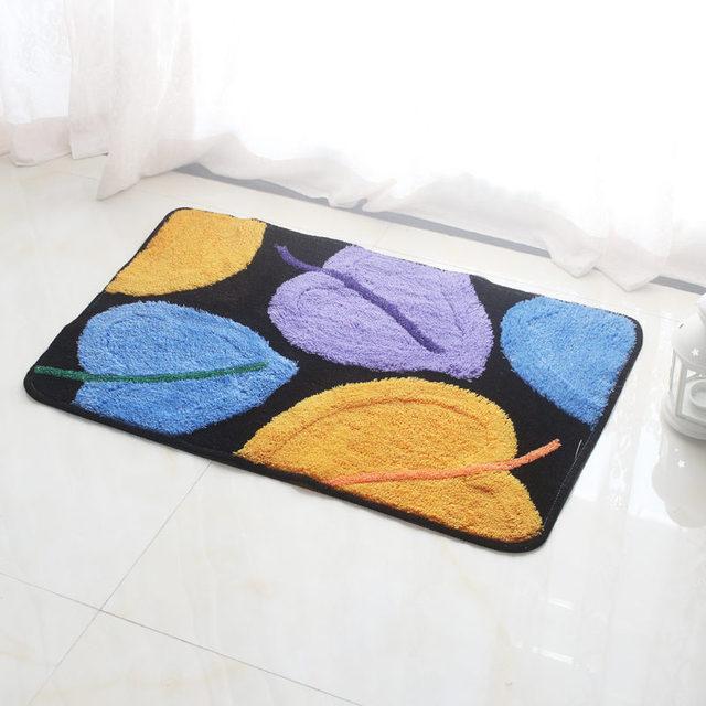 2017 Modern Bath Rug Non Slip Decoration Floor Carpet Soft Doormat Feet Pad Kitchen  Rug