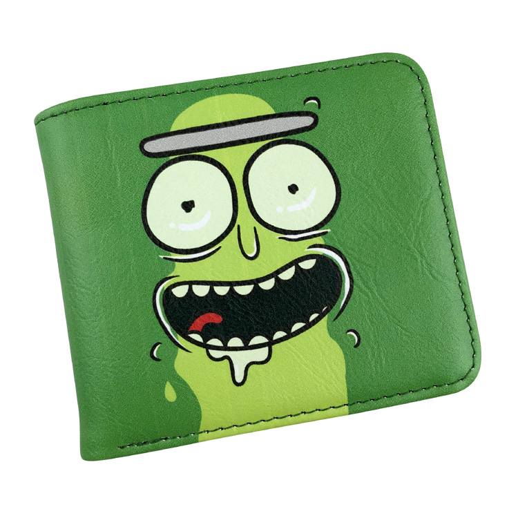 Anime Rick and Morty Rick Bi-Fold Wallet Credit Card Holder Purse Pickle Rick Cartoon Leather Pu Wallet Unisex Handbags 2016 new arriving pu leather short wallet the price is right and grand theft auto new fashion anime cartoon purse cool billfold