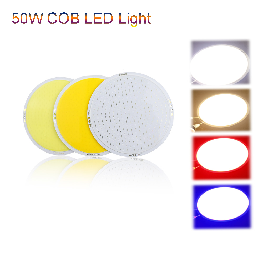 50W Globe COB LED Light Source DC12V Brightness D10.8cm Warm White blue Red LED Lamp Chip Car Board DIY bulb lamps USE UR  cob 50w ultra bright round led pure white light lamp source chips diy dc12v for car bulb or home lighting high brightness 1pcs