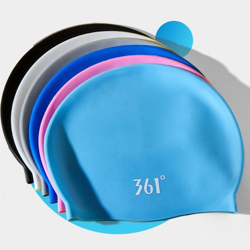 361 Silicone Swimming Cap for Men Women Pool Waterproof Ear Protection Professional Water Sports KidsSwim Hat