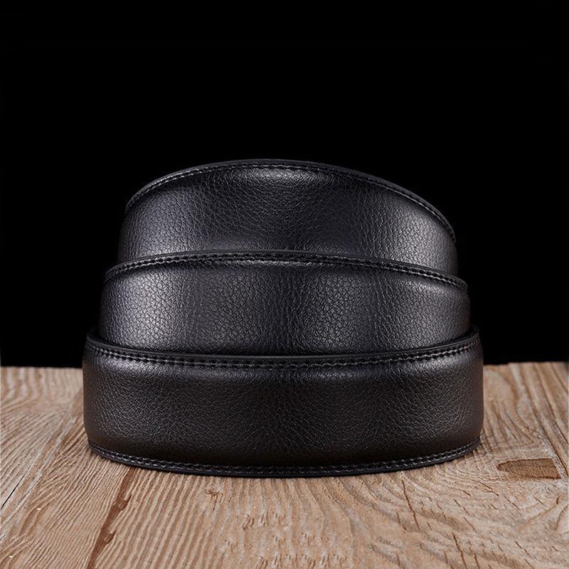 Acheter Mode Ceinture Sans Boucle Hommes Top Qualité Véritable De Luxe  Ceintures En Cuir pour Hommes ... 82f6100c4af