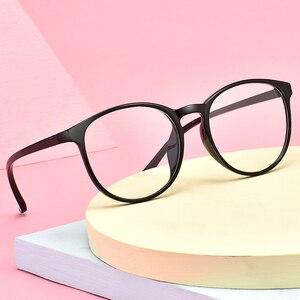 Image 4 - Transparente gläser Runde Brille Frauen TR90 Optische Auge Rahmen für männer Rezept Ultraleicht rahmen 643