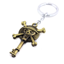 One Piece Monkey D Luffy Skull Keychain