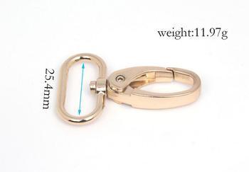 25.4mm Light gold trigger snap for bag, hardware accessories,handbag hook swivel clasp Dog clip hook metal Clip Buckle