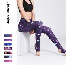 Women High Waist Gym Pants Printed Fitness Legging Elastic Sport Pants Gym Workout Running Leggings Female Sport Dance Trousers недорого