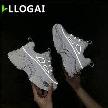 Breathable Mesh Ladies Shoes Comfortable Rubber Platform Sneakers Women