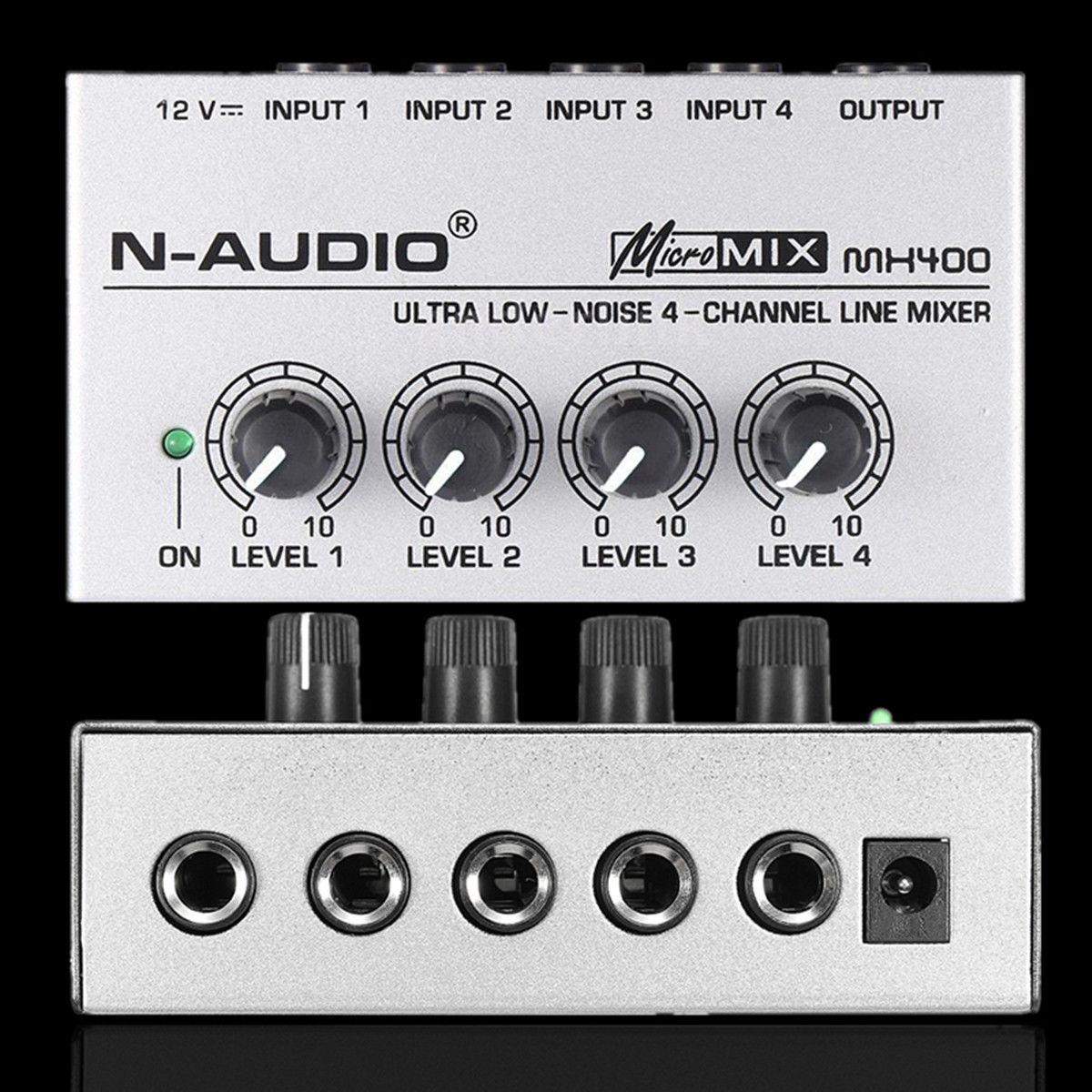 Tragbare MX400 Micromix Low Voice 4 Kanäle Mono Linie Studio Audio Mixer UNS 12V Elektrische Instrument Teile & Zubehör