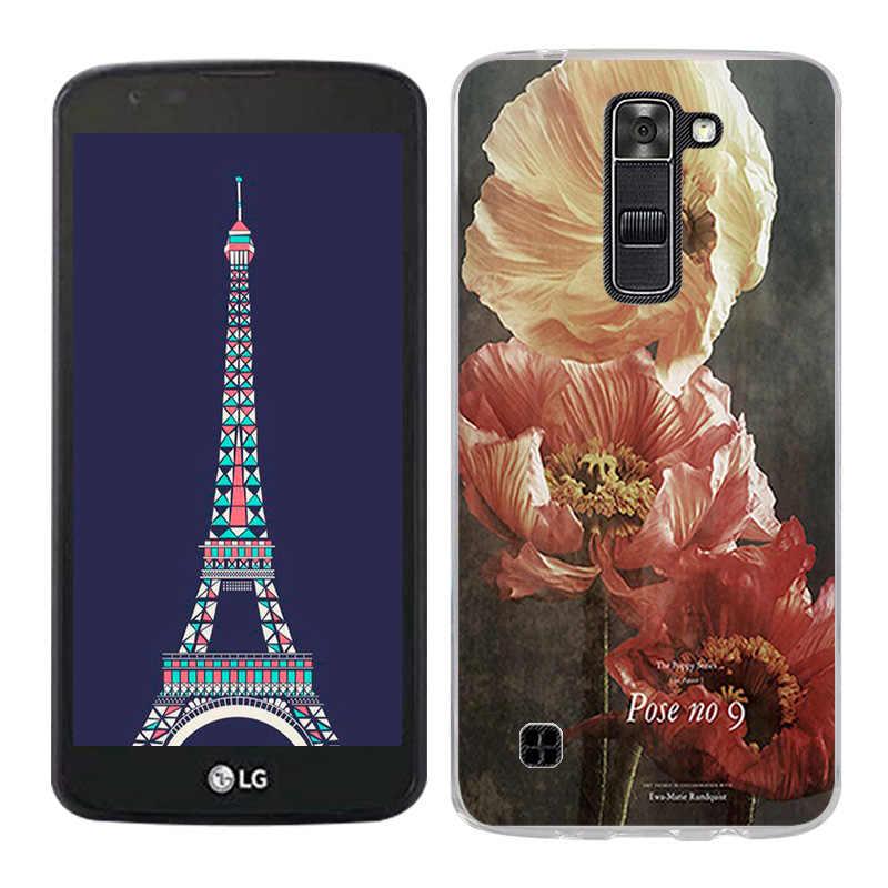 قذيفة ل LG تحية 5/LG K7 عودة حالة غطاء مشهد رسمت الهاتف الخليوي الحالات ل LG K7 K330 كوكه شفافة فوندا ل LG K7