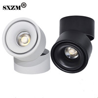 SXZM 10W 15W led downlight Surface mounted Adjustable 90 degrees Spot light 360 Rotatable led lamp for indoor Foyer,Hall