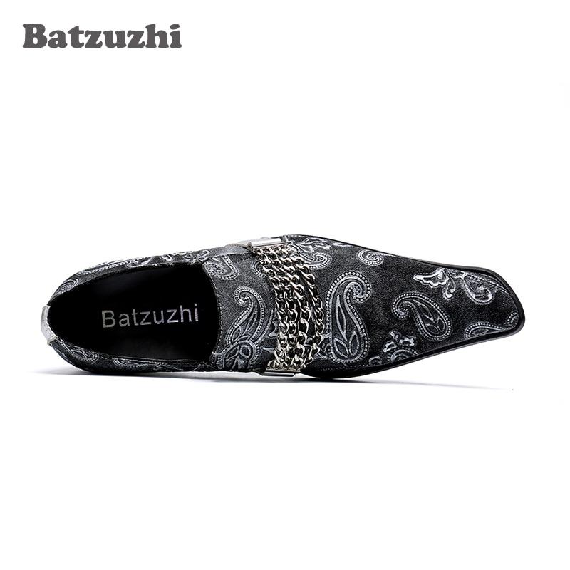 7ec720c2 Vestido Para Batzuzhi Y Formal Mano Tipo Cuero Fiesta 46 A De Los oro  Hombre Hecho Italiano Negro Boda Negocios Zapatos Hombres qqp4wxPC