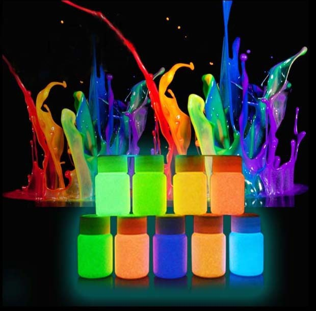 50 g Pigment powder with maximum brightness and long afterglow, Neon Glow, Luminous powder with varnish018