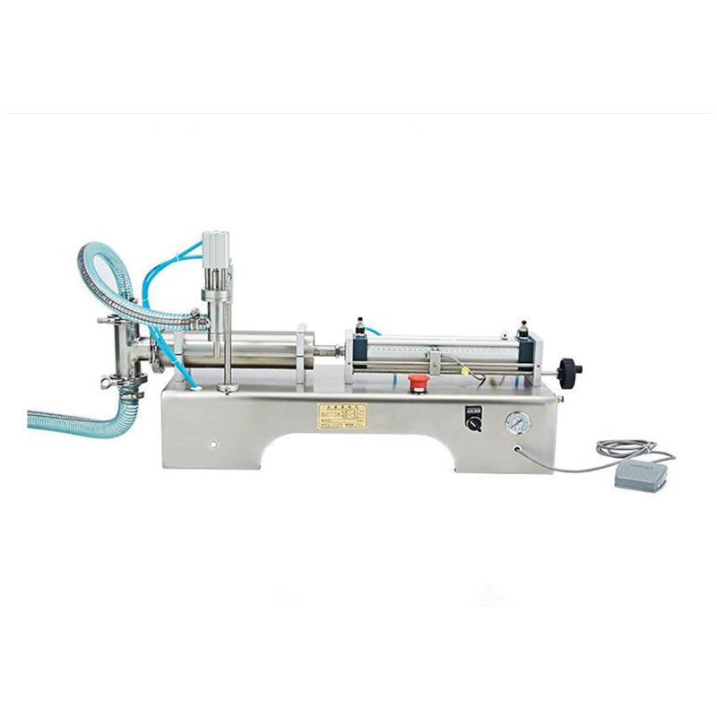 220V Commercial Horizontal Pneumatic Liquid Filling Machine Stainless Steel Liquid/Solid Peanut Butter Chili Filling Machine stainless steel liquid filling machine adjustable foot quantitative perfume filling machine cfk 160