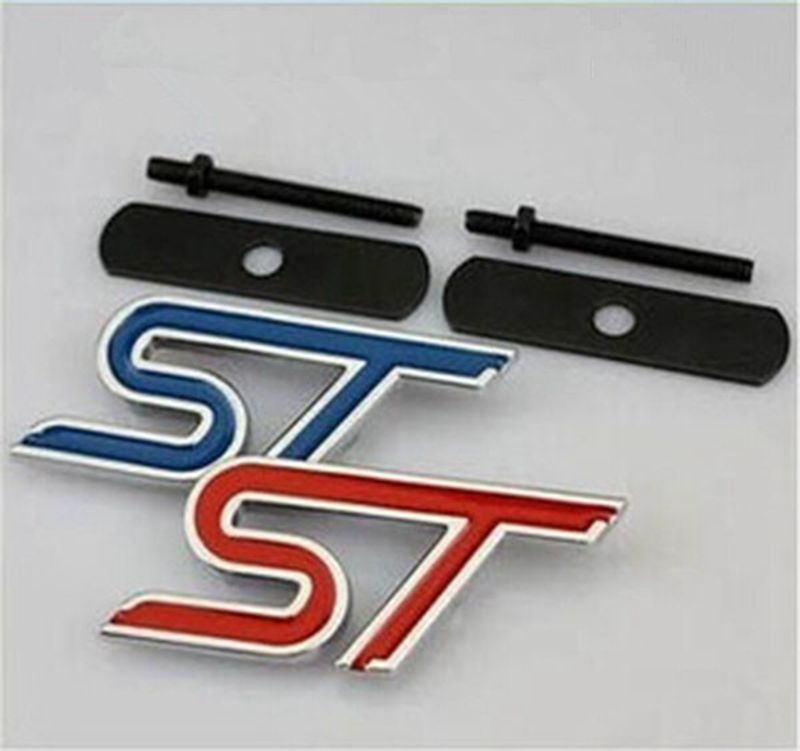 Car Styling ST 3D Metal Front Hood Grille Badge Grill Emblem Auto Stickers Car Accessories For & Popular Ford Car Badge-Buy Cheap Ford Car Badge lots from China ... markmcfarlin.com