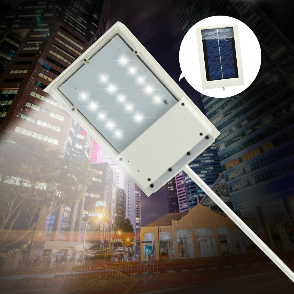 15 led solar powered panel led street light solar sensor lighting outdoor path wall emergency. Black Bedroom Furniture Sets. Home Design Ideas