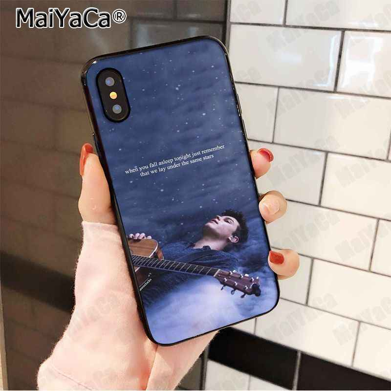 MaiYaCa Hit pop singer Shawn Mendes Magcon Black Soft TPU silicone Phone  Case For iPhone 5sXS 6s 7 plus 8 8plus X XR XS MAX