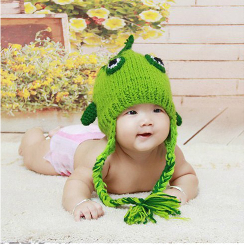 355500ec Handmade Crochet Newborn Baby Hat Photography Infant Small Magic Fish  Beanies Knitted Children Cap 1pc BH0913-in Hats & Caps from Mother & Kids  on ...