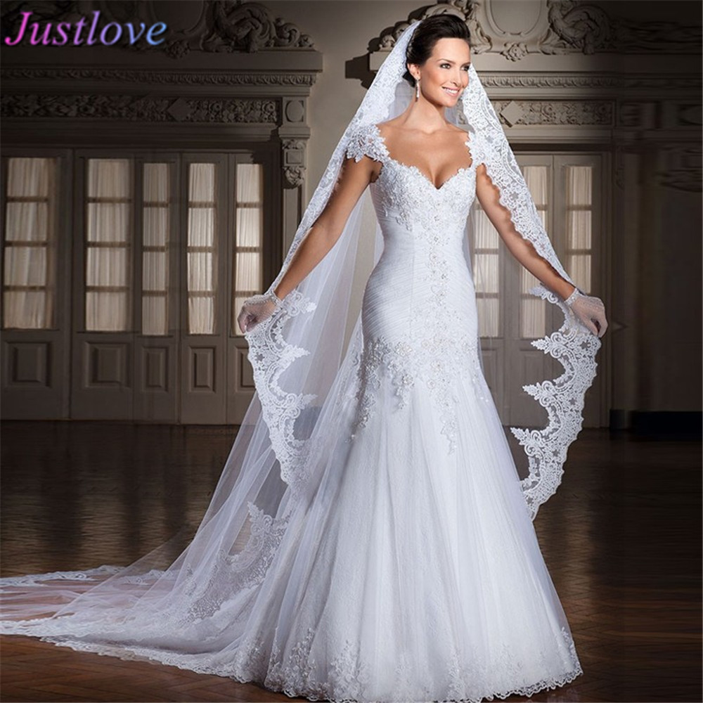 Fashion New Arrival Lace Mermaid Wedding Dresses 2016 Remove Train ...
