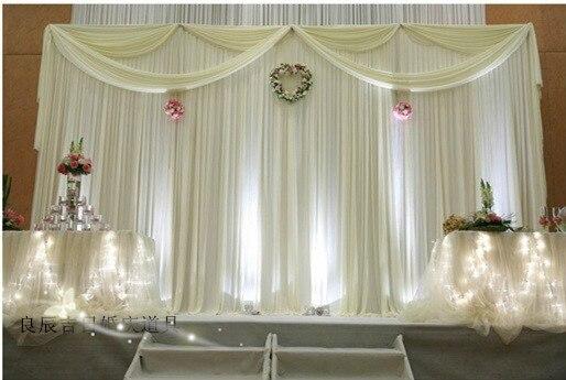 3m H 6m W Pure White Fashion Style Wedding Backdrop