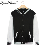spring winter Baseball jacket clothes women's casual long sleeved sweater coat hoodies sweatshirt warm and comfortable JT030