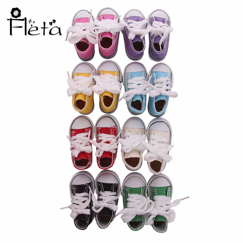 2019 New Design Doll Shoes 7.5 Cm Fashion Canvas Shoes Give Children The Best Gift