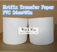 PVC Hotfix Transfer Paper Motif Paper 24cm 90m 1roll Use For T Shirts And Bags