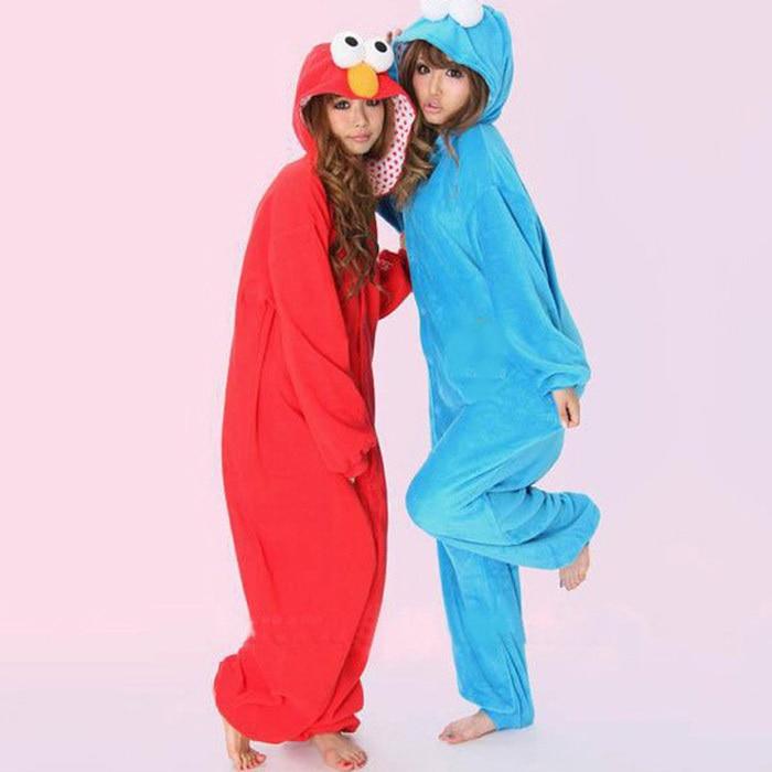 f8c9634dc562 New Arrival Elmo Cookie Monster Cosplay Halloween Fancy Costume Wholesale Adult  Onesie