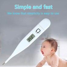 Портативный электронный термометр Кнопка батарея лихорадка Детские термограф для удобного Прямая