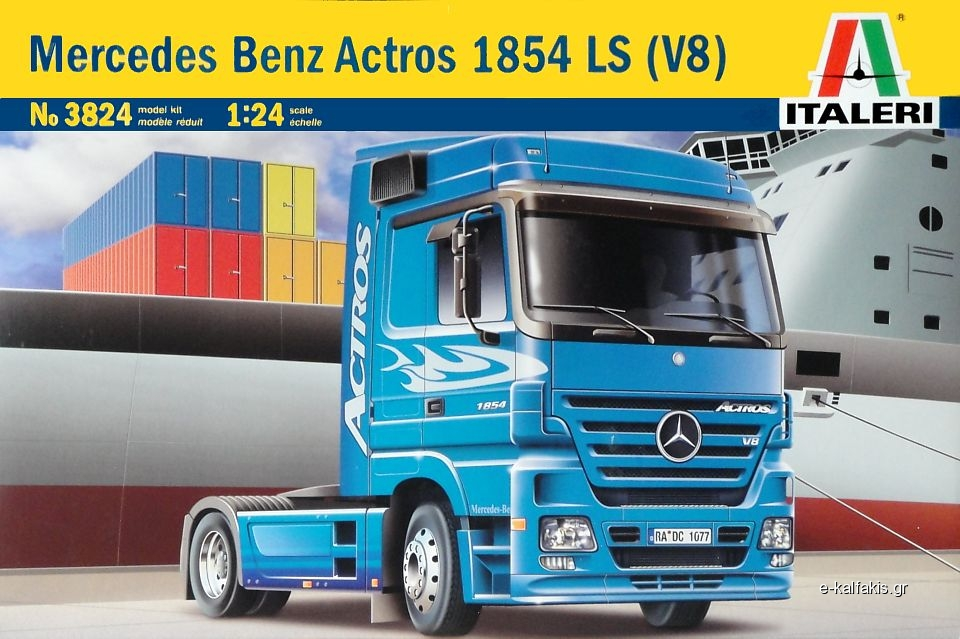 Italeri 3824 1/24 Scale Model Truck Kit Benz Actros 1854 LS V8