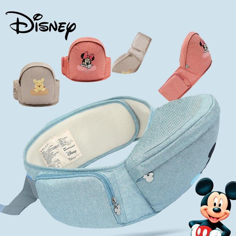 Disney Mickey Minnie Baby Carrier Waist Stool Walkers Baby Sling Hold Waist Belt Backpack Hipseat Belt Kids Infant Hip Seat New