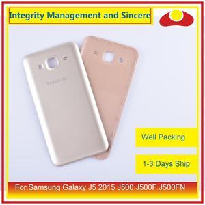 Image 4 - 50 pçs/lote Para Samsung Galaxy J5 2015 J500 J500F J500FN J500H Habitação Porta Da Bateria Voltar Tampa Traseira Caso Shell Chassis Substituição
