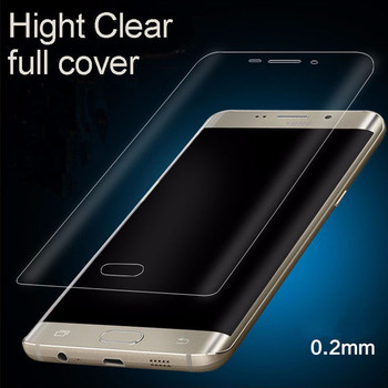 100pcs Full Coverage Clear TPU Screen Protector Film Cover Curved for Galaxy S6 S6 edge S6 edge plus S7 S7 edge Note7 S8 S8 edge