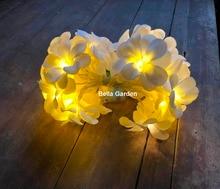 220 / 110V 3m 20led frangipani LED String Lights Аккумулятор цветочные Fairy light, Event Party украшение гирлянды, украшение спальни
