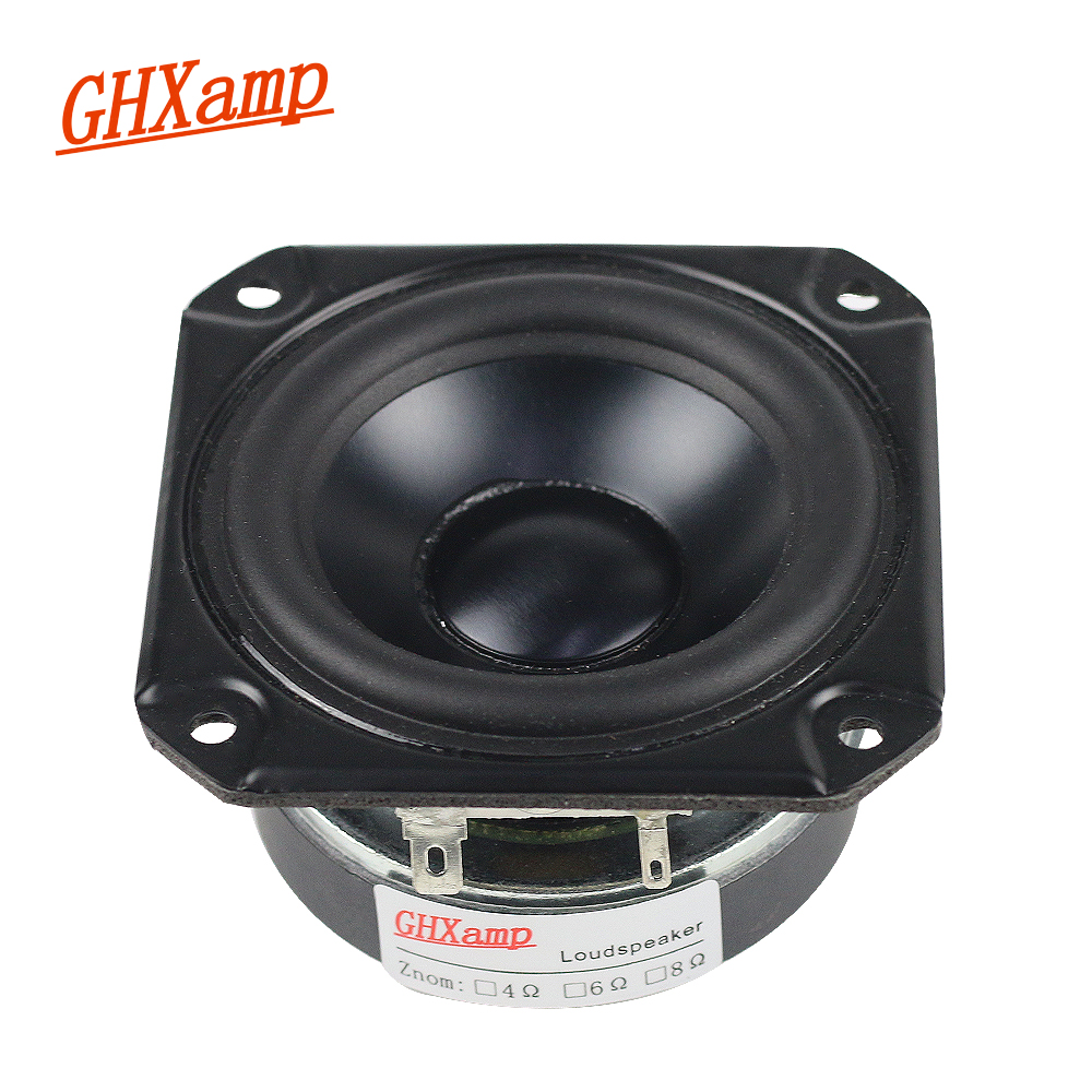 GHXAMP 3 INCH 4OHM 40W Full Range Speaker Rubber Tweeter Midrange Woofer Low frequency For Peerless Speaker Bluetooth DIY ghxamp 150w 3 way crossover speaker bass tweeter midrange for 10 inch woofer speaker home theater filter 12db 45hz 20khz 2pcs